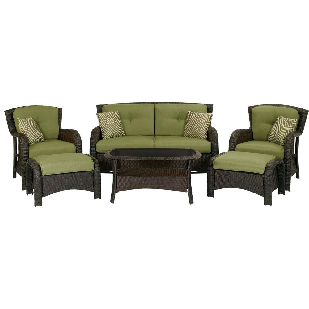 Outdoor Resin Wicker 6-piece Patio Furniture Set With