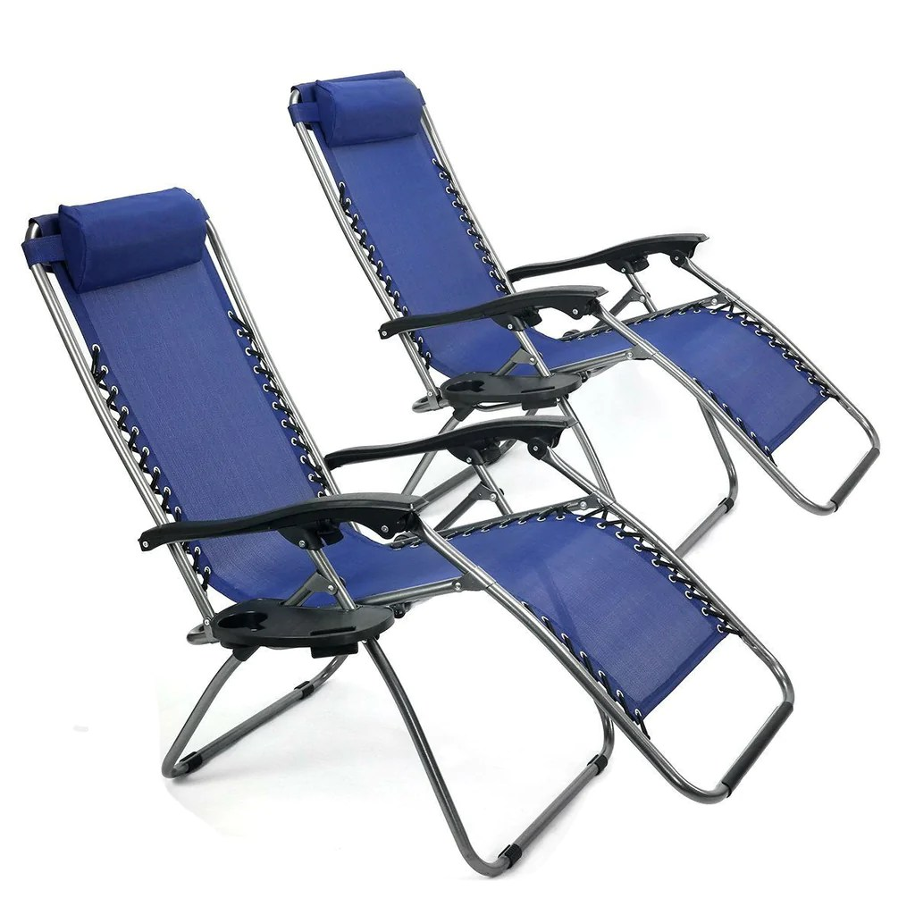 zero gravity pool chairs chair pillow target set of 2 navy reclining lounge beach