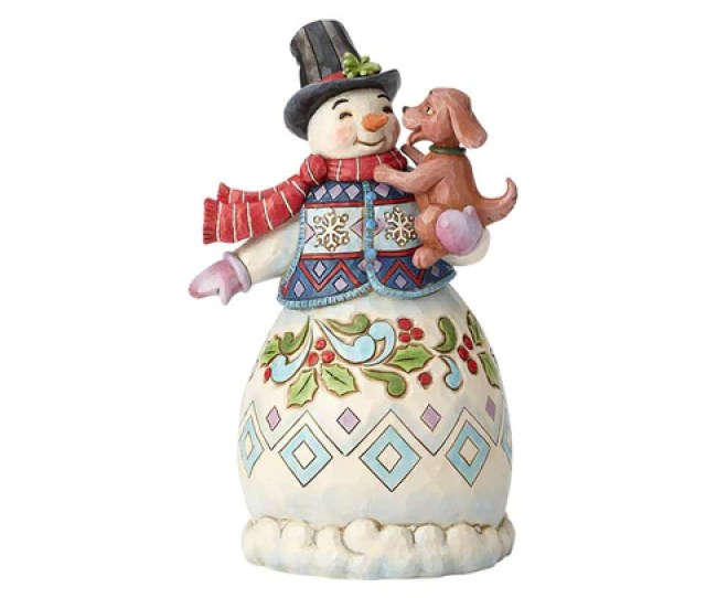 Snowman With Dog Rd In Series