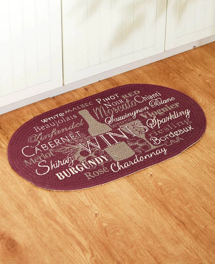 kitchen floor rugs commercial flooring options cotton braided winery rug oval homecricket