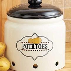 Kitchen Crock Best New Gadgets Organization Potato Freezer Safe Accent Decor Holder Storage Jar Potatoes On