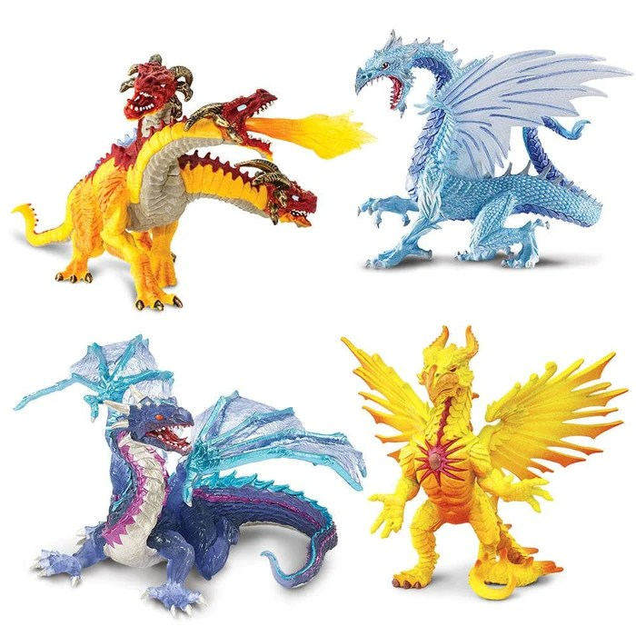 elemental dragons set of