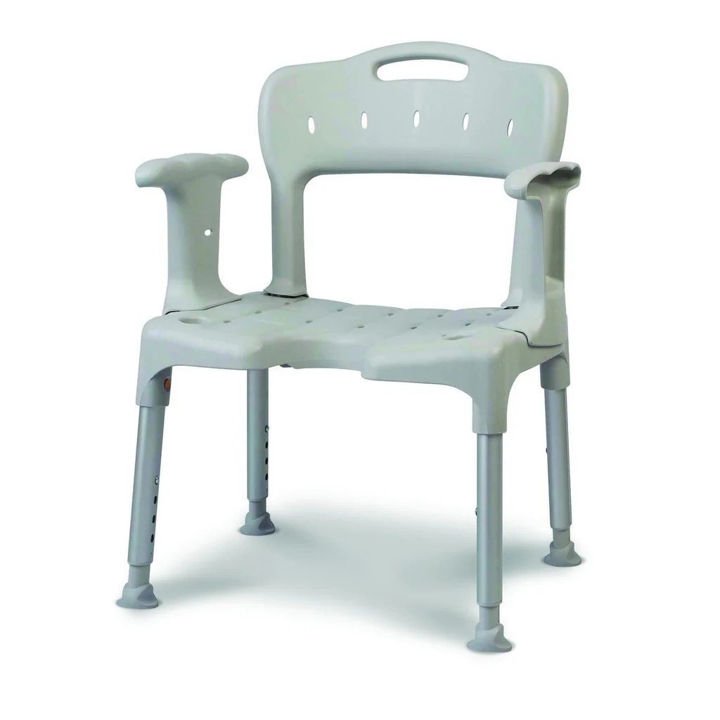shower chair with back and armrests sears high chairs canada etac swift stool seat pad green