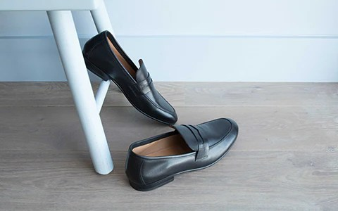 Mens Black Slip On Shoes