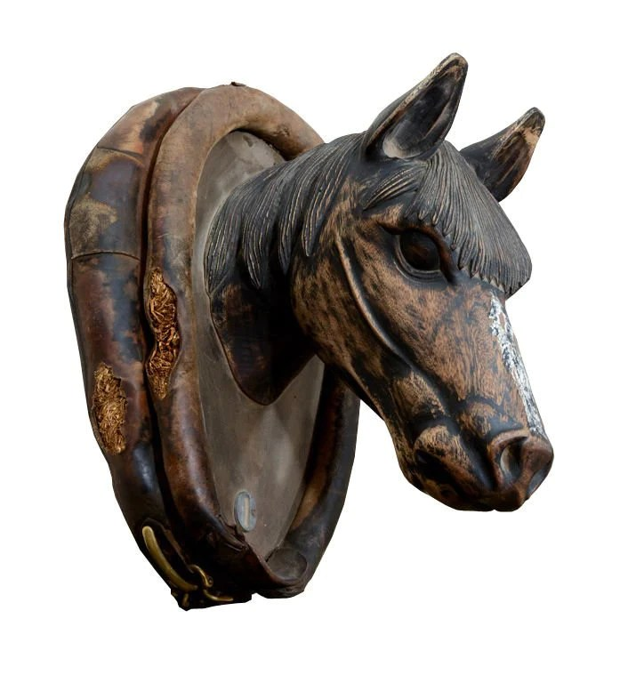 Antique Carved Wooden Horse Head Trade Sign – NYC MODERN