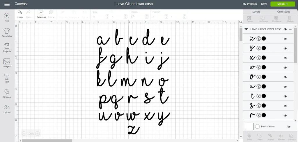 Download I Love Glitter alphabet svg/eps/dxf cutting files (MHA ...