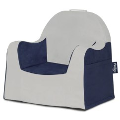 Chair With Light Plastic Mat For Office Chairs P Kolino Little Reader Grey And Navy Blue