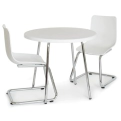 White Table Chairs Swivel Chair Wheels P Kolino Children Tables And Modern Kids Round