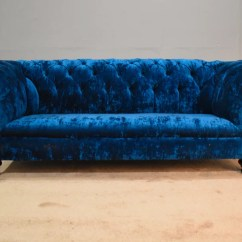 Blue Velvet Chesterfield Sofa Bed Support Panels Sofas Chesterfields Of England Clarendon 3 Seater In Petrol Modean