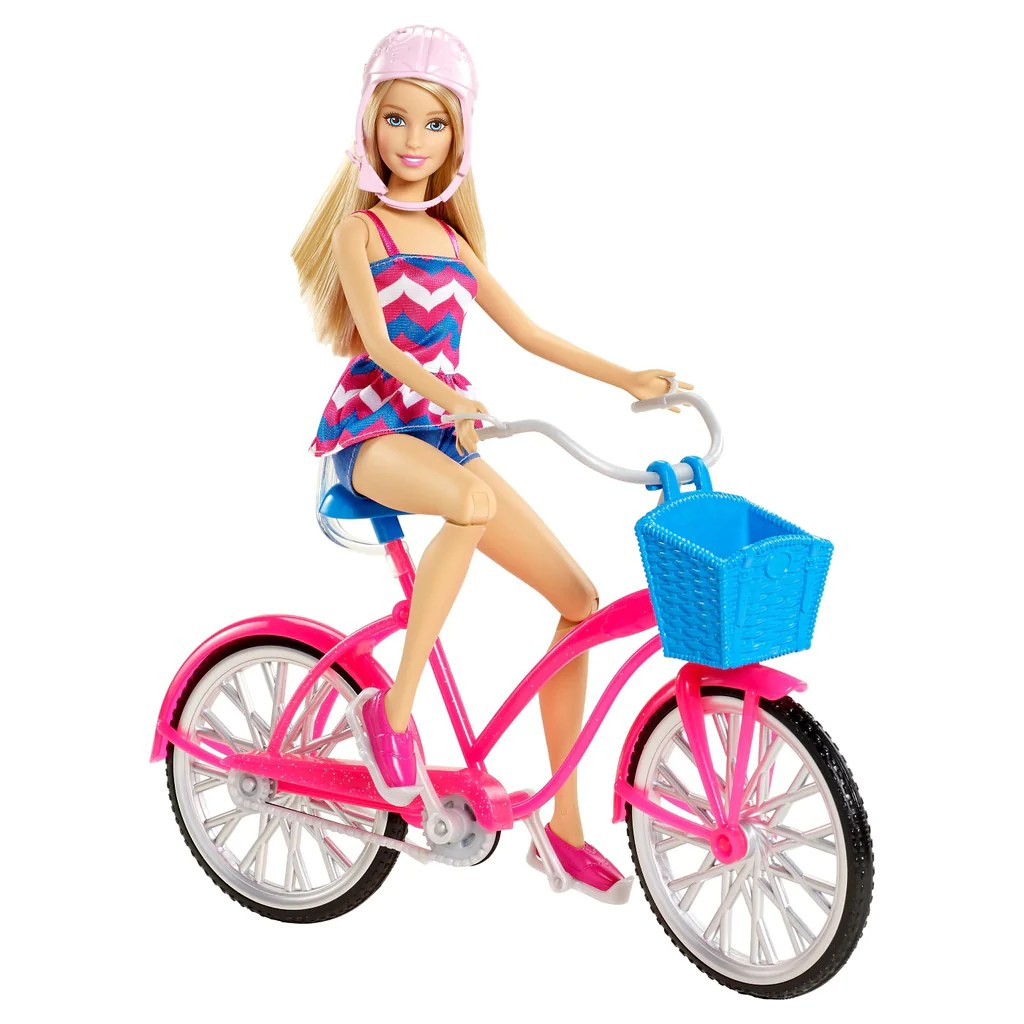 Barbie Glam - Passeio De Bicicleta Mercado Bebe