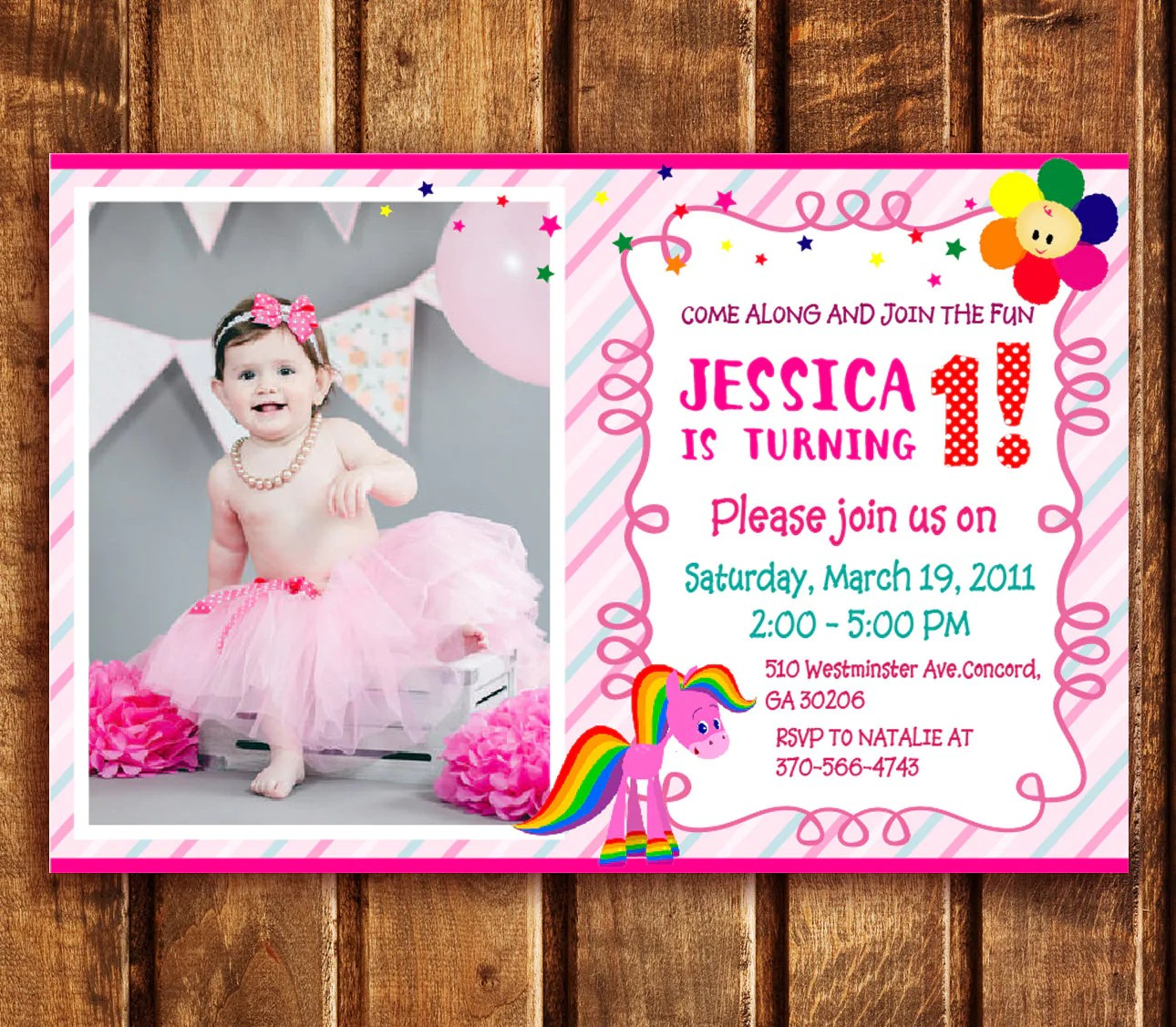 Baby Tv Birthday Party Invitations