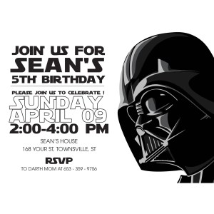 Unique Star Wars Birthday All Invitations Image Collection
