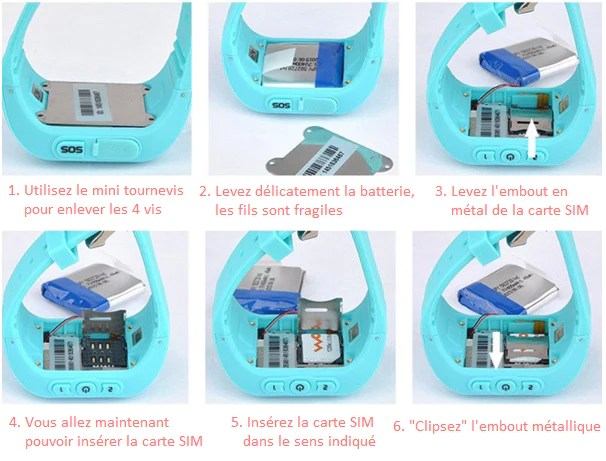 Carte SIM - Montre GPS Enfant