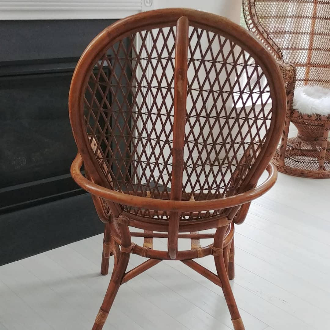 Rattan Accent Chair Vintage Rattan Accent Chair