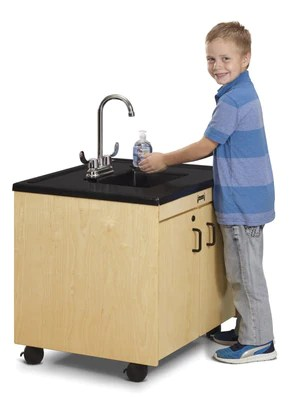 child diaper changing station sink
