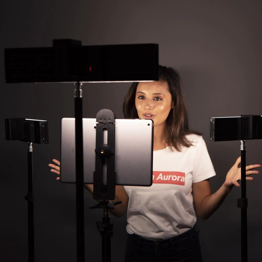 led product photography youtube video lighting home studio kit trio crystal luxe