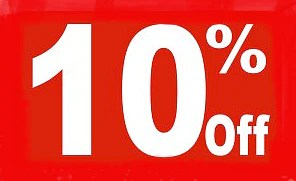 sale event signs percentage