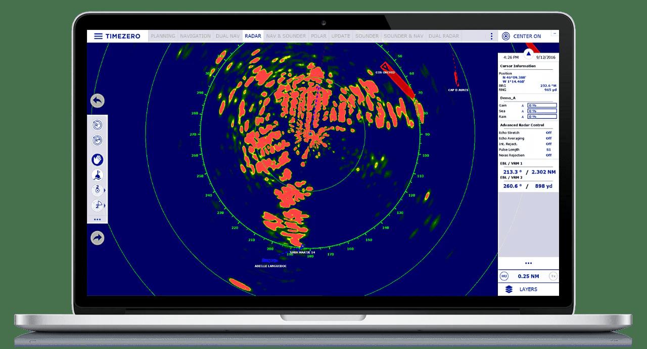 timezero recreational series software navigator 2 dogs marine  [ 1280 x 690 Pixel ]