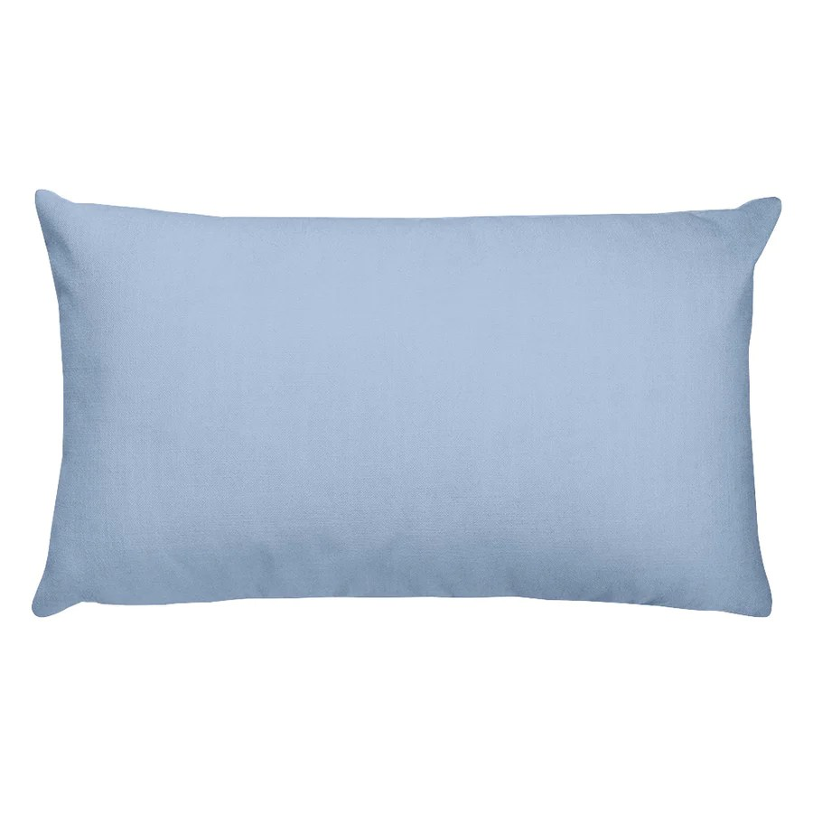 mountain blue rectangular pillow