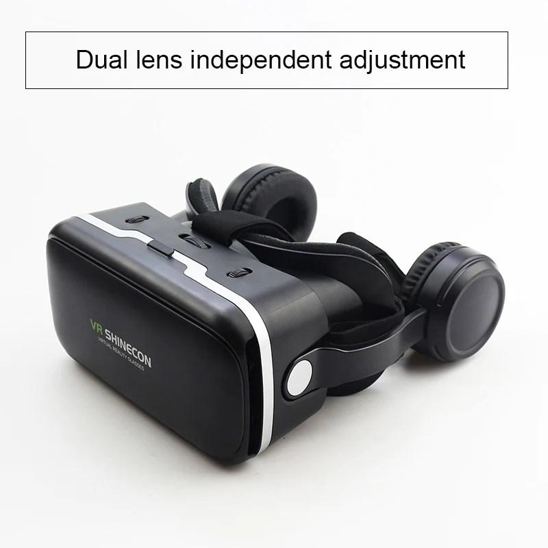 VR Shinecon 60 Pro Stereo VR Headset Virtual Reality Helmet Smartphon VR Headset Box