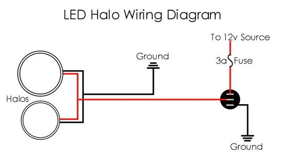 car headlight wiring diagram h4 bulb halo installation instructions guide back to table of contents