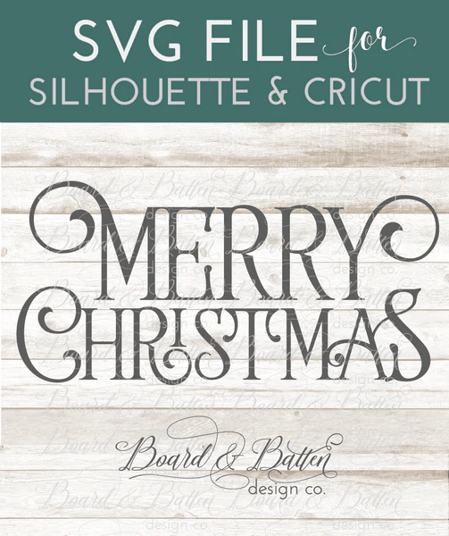 Farmhouse Style Merry Christmas SVG File  Board  Batten