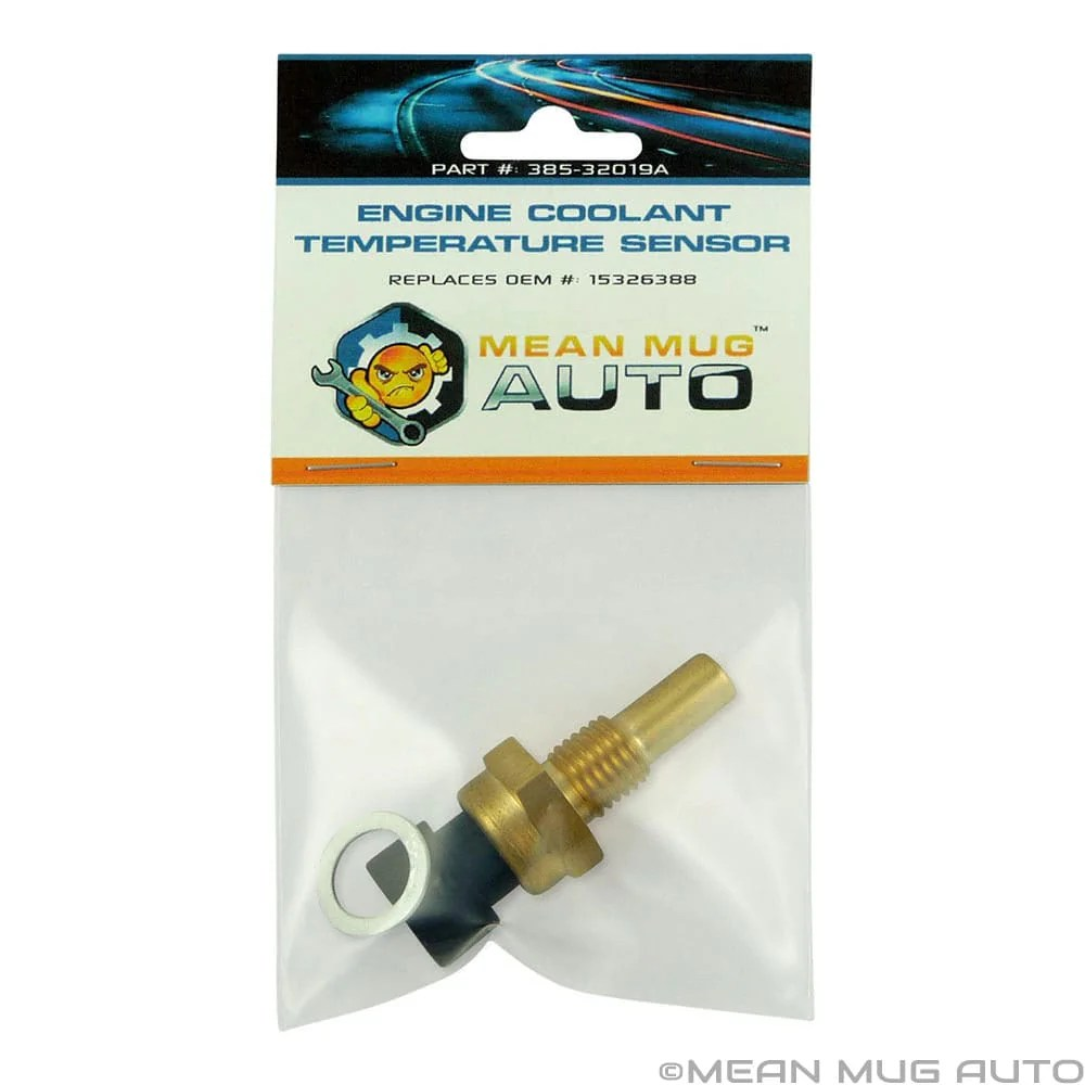 medium resolution of 385 32019a engine coolant temperature sensor with washer for chevrolet gmc buick replaces oem 15326388