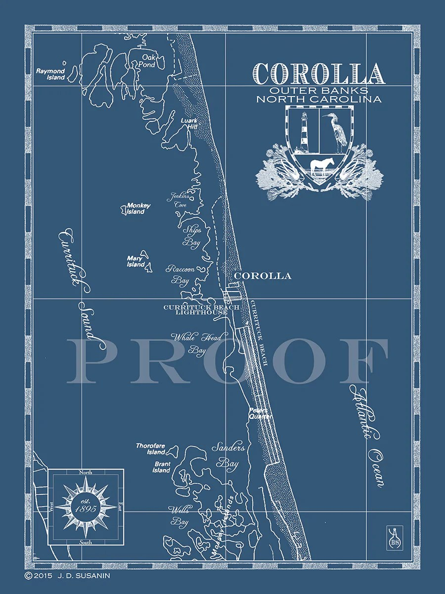 hight resolution of map of corolla nc