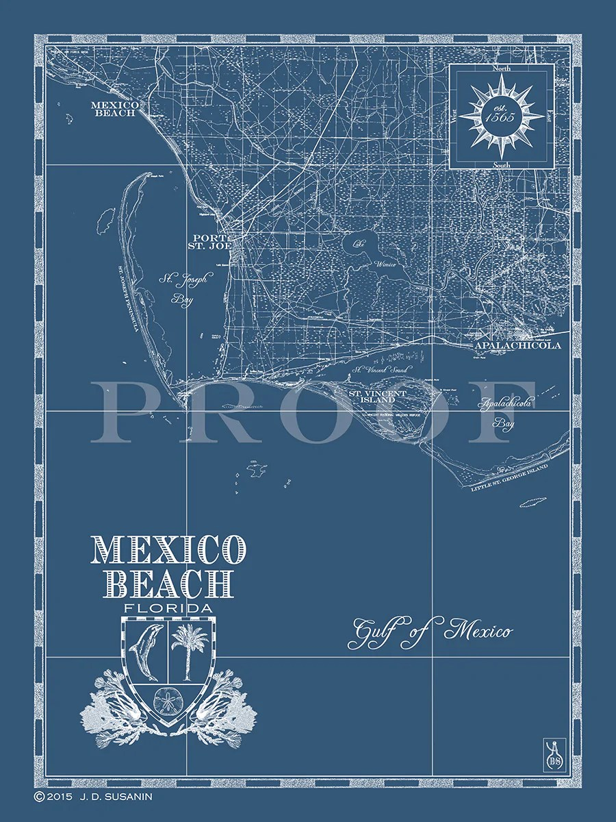 Mexico Beach Florida Map : mexico, beach, florida, Mexico, Beach,, Custom