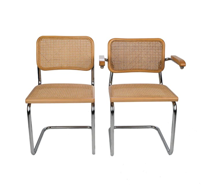 where can i buy cane for chairs aluminum folding chaise lounge marcel breuer mid century chrome and danielle d rollins