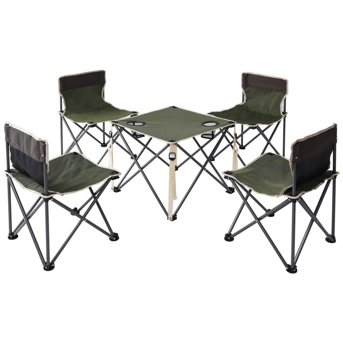 folding chair picnic table manufacturing process natural elements by l green portable outdoor chairs set camping beach with carrying bag
