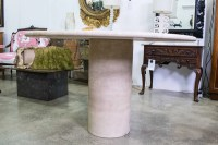 Vintage Circular Travertine Dining Table  The Vault Sydney