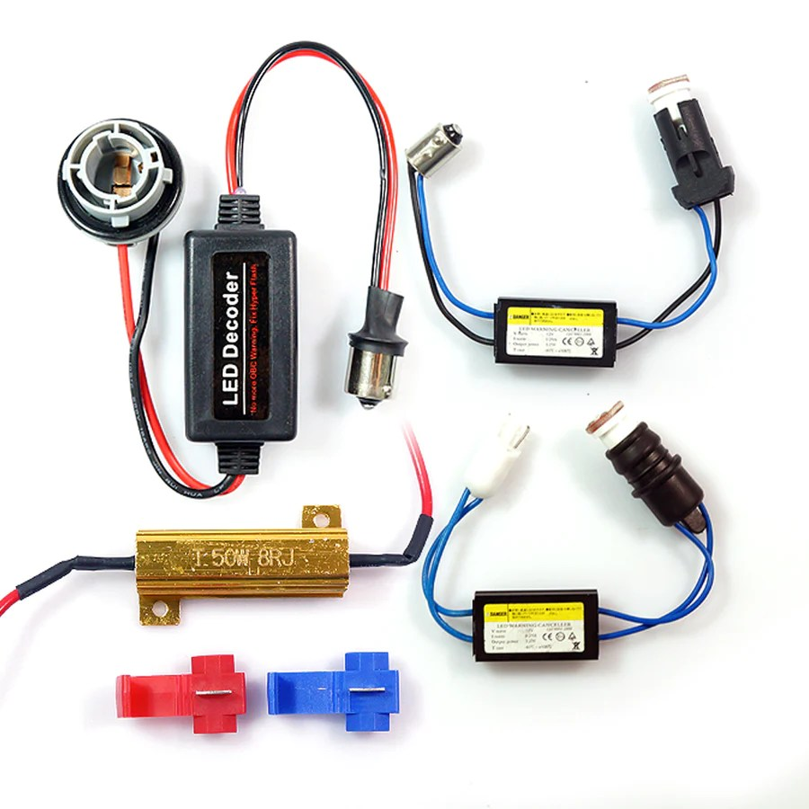 small resolution of  12v led all in one error code cancellers load matching ba15s ba9s t10 wires
