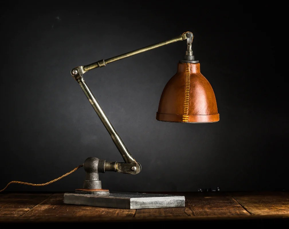 Luxurious Leather Lamps  Warehouse Home