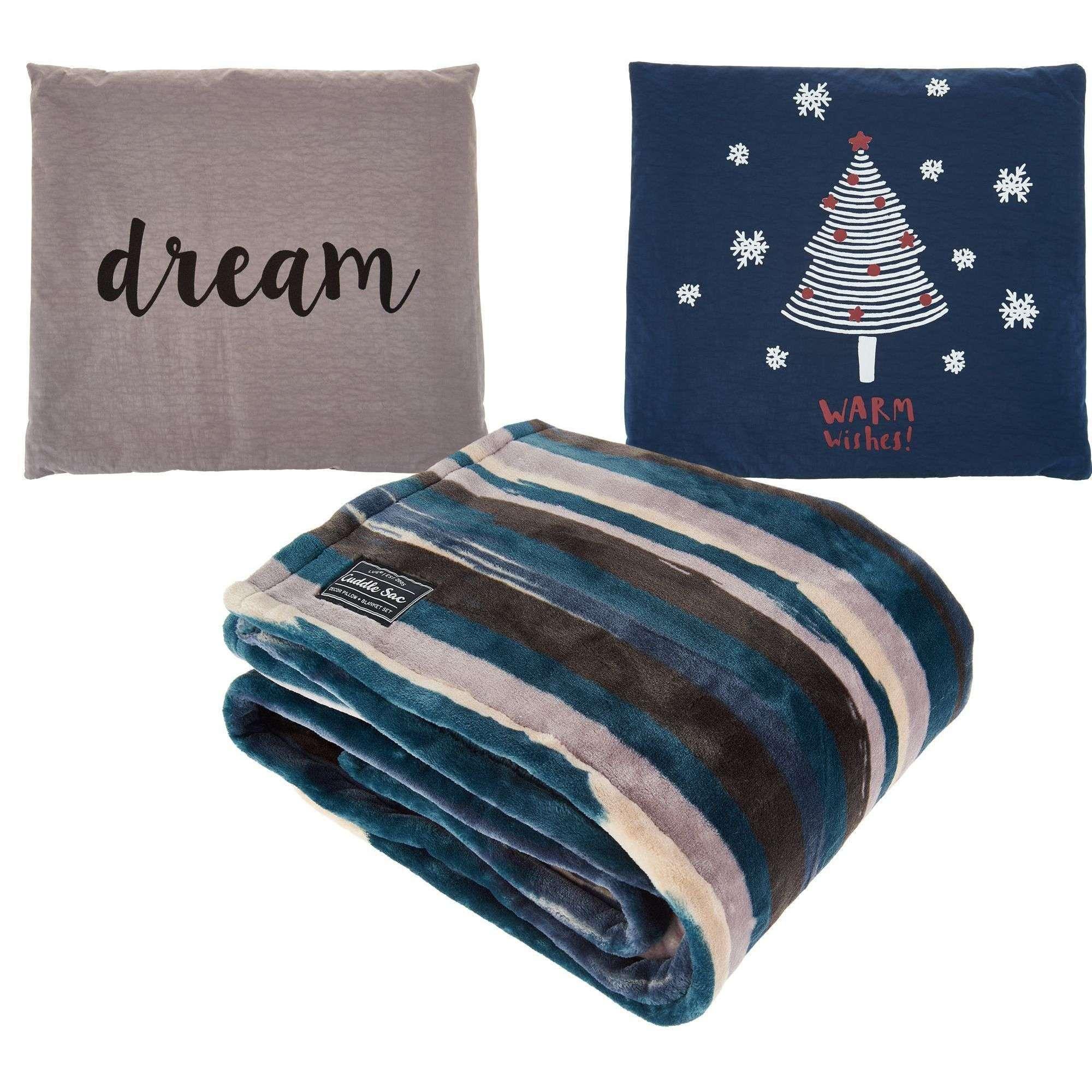 lug cuddle sac pearl dream throw pillow set