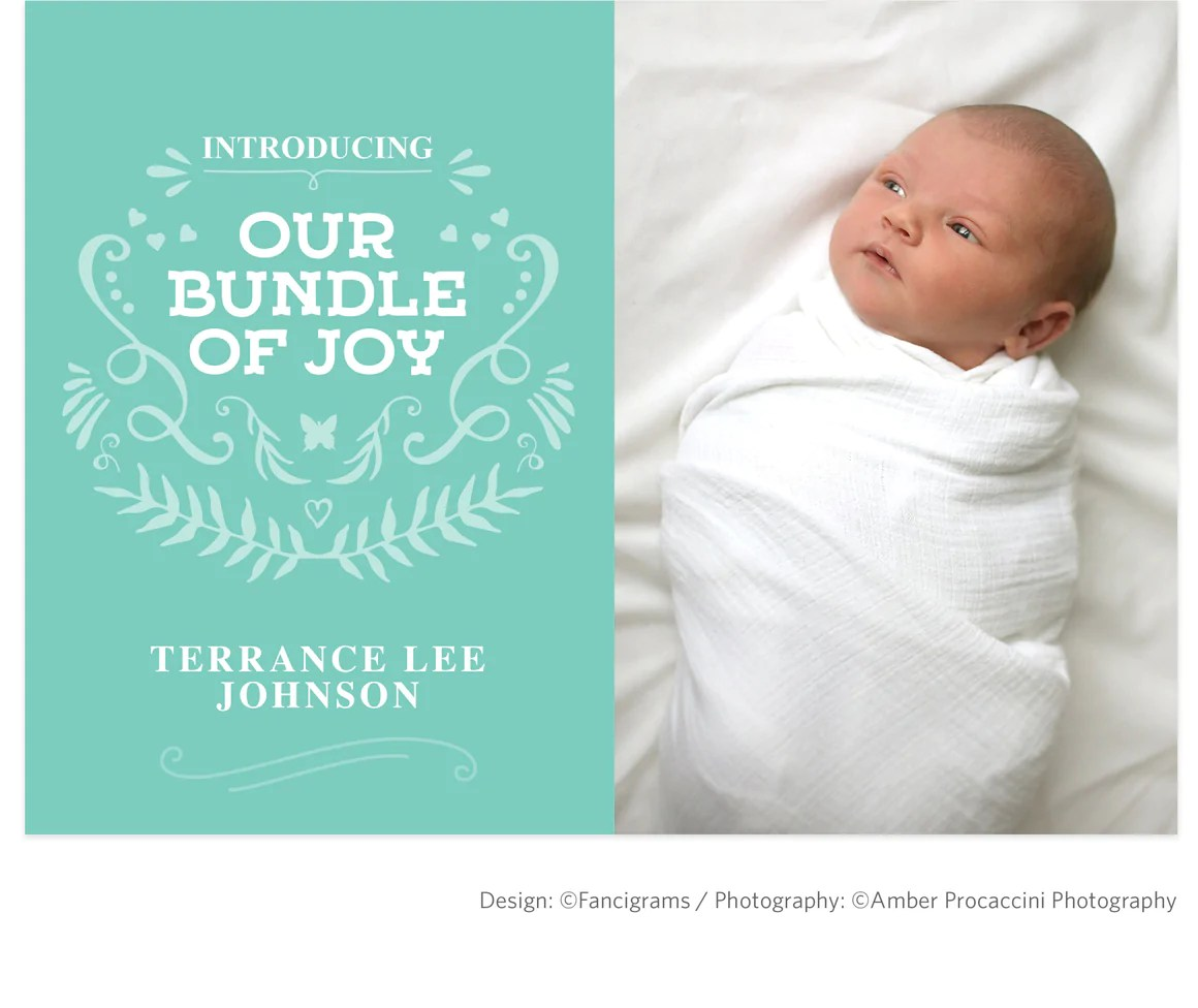 Birth Announcement Template Bundle Of Joy Boy Fancigrams