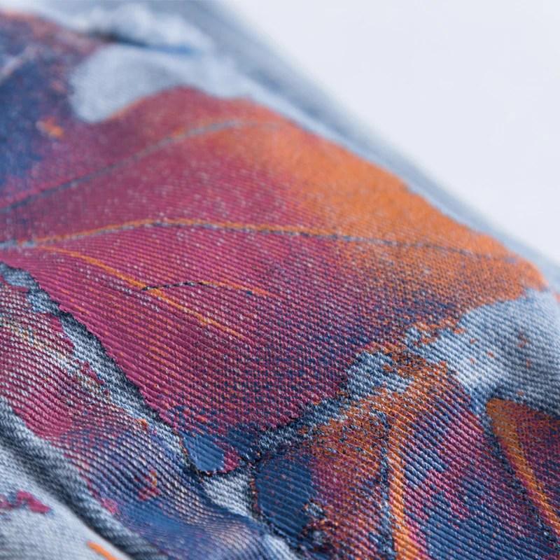 graffiti painted jeans