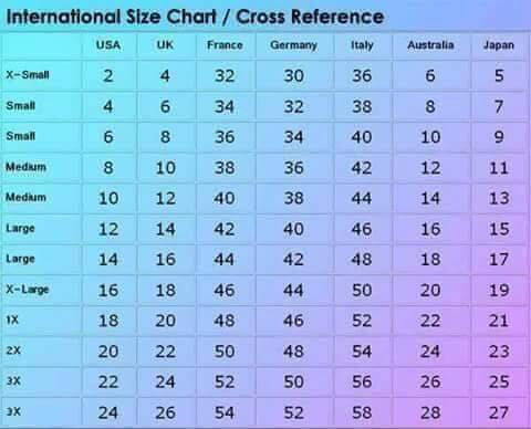 Australian women   sizing conversion chart also information northern sun boutique rh northernsunboutique