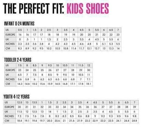 Children   shoe international sizing chart also information northern sun boutique rh northernsunboutique