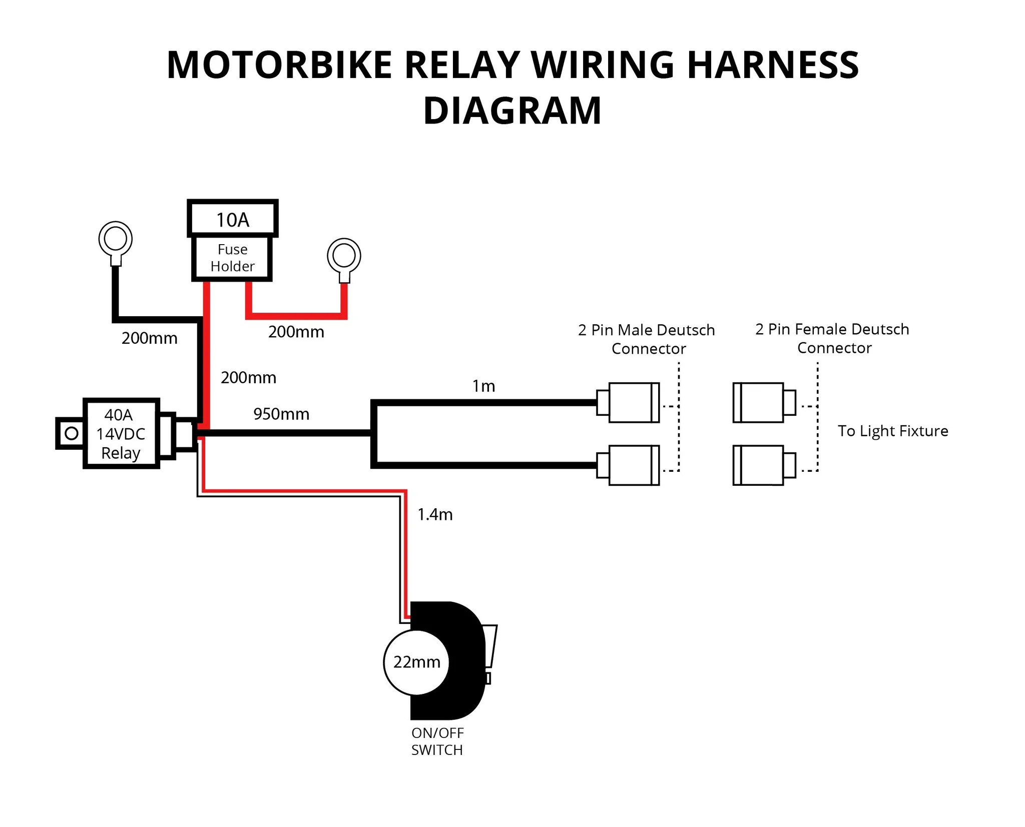 extreme lights motorbike relay wiring harness for 2 x 10w lights the best motorbike [ 2048 x 1653 Pixel ]