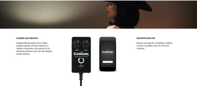Cowgril App allows for local remote control upto 30 feet away