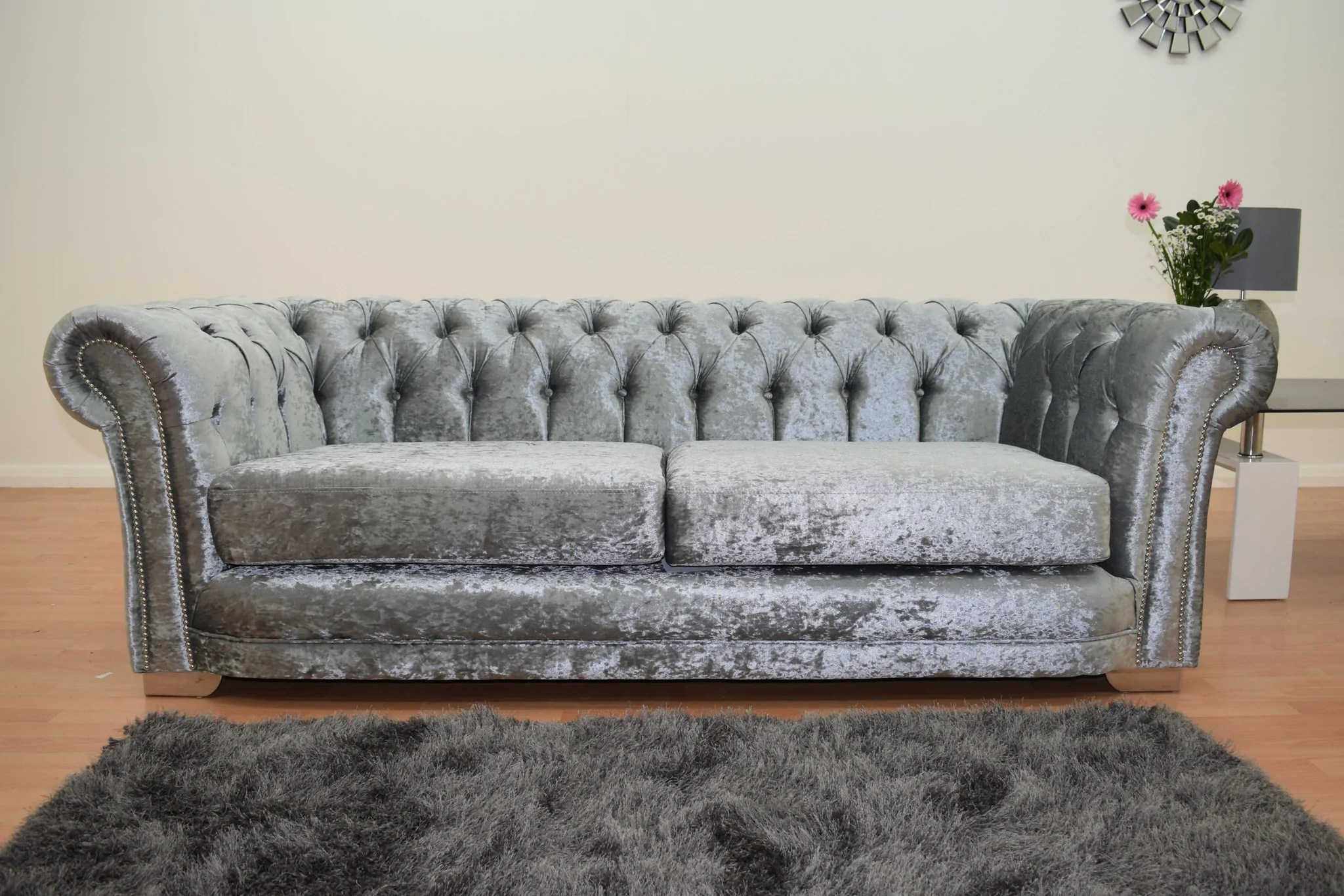 black 3 seater sofa and cuddle chair reclining power supply chesterfield with velvet silver the