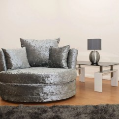 Black 3 Seater Sofa And Cuddle Chair Bed On Wheels Chesterfield With Velvet Silver The