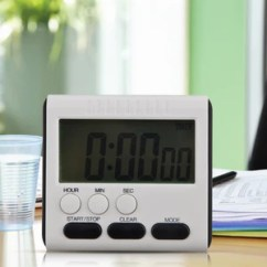 Digital Kitchen Timers Aid Oven Magnetic Large Lcd Timer With Loud Alarm Count Up Down Clock To 24