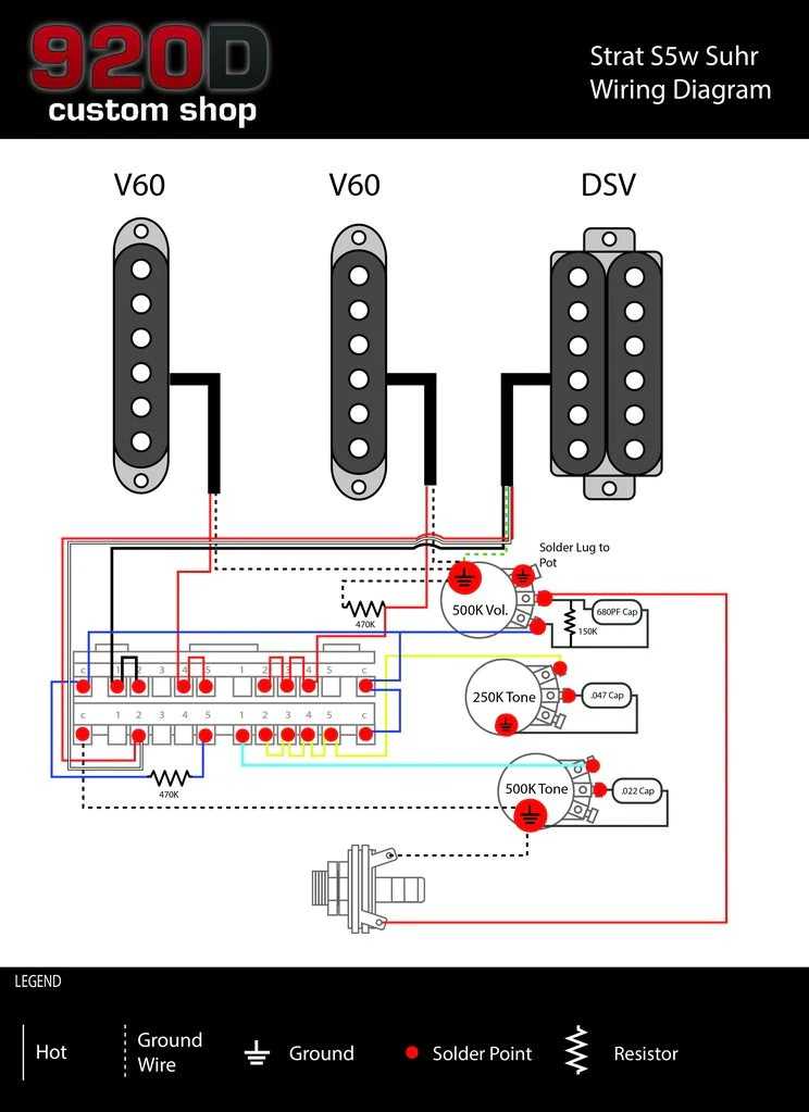 Diagrams  Stratocaster S5W Suhr – 920D Custom