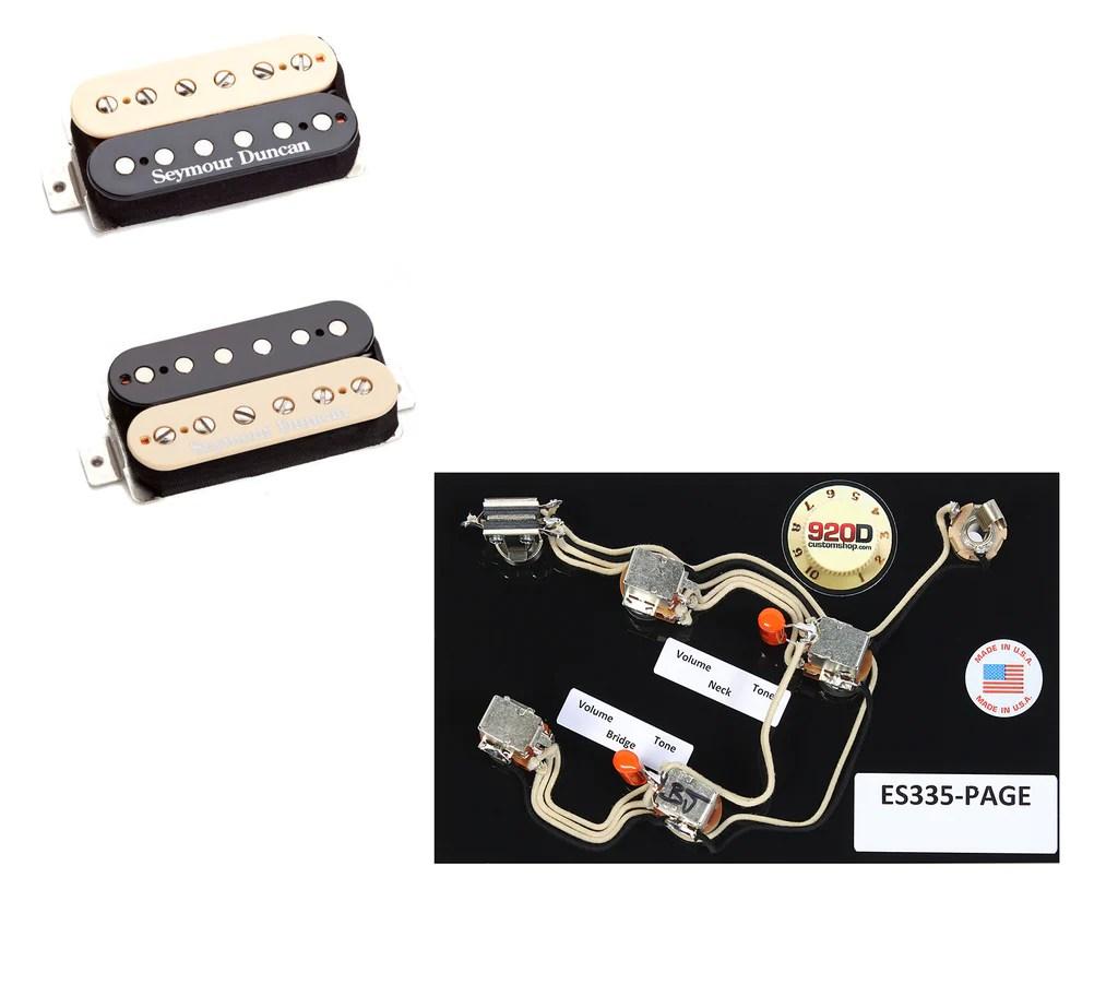 duncan hot rodded humbucker pickup set zebra es 335 page wiring harness [ 1024 x 901 Pixel ]
