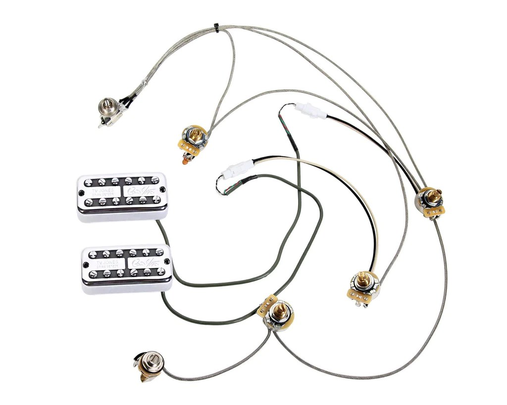 hight resolution of tv jones brian setzer pickups gretsch electromatic wiring harness w quick connect