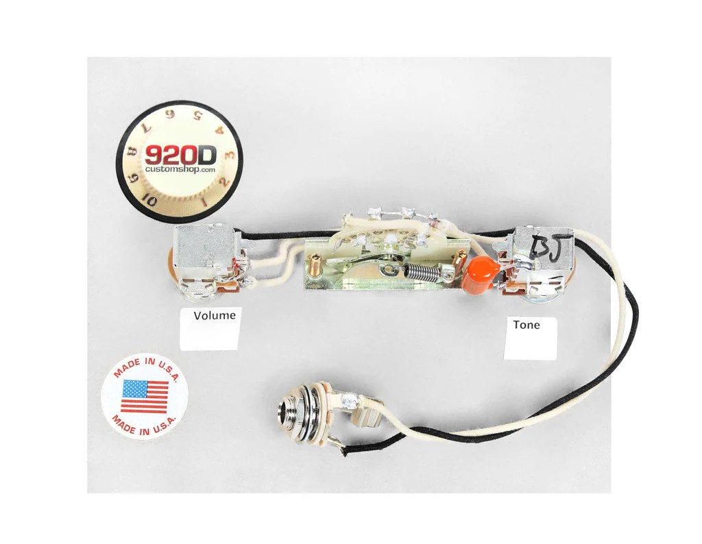 hight resolution of 920d wiring harness for brian moore i200 series hsh guitars