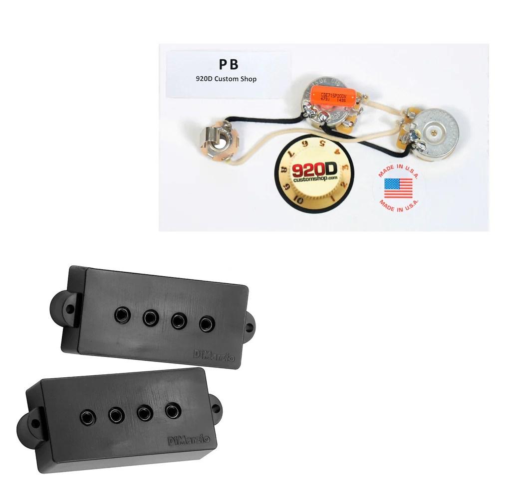 small resolution of dimarzio model p dp122 for fender p bass guitar black pb harnessdimarzio bass pickup set