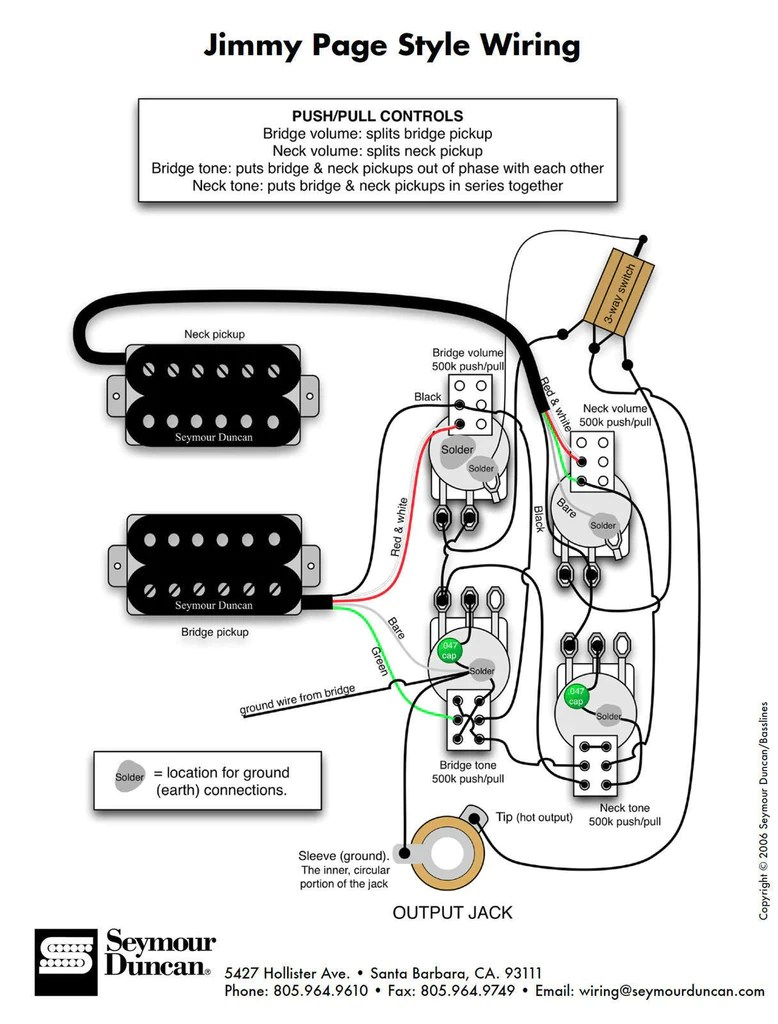 duncan pearly gates humbucker pickup set white page les paul wiring harness  [ 778 x 1024 Pixel ]